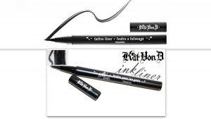 Open eye liner pen with scribble.