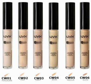 Assortment of nude concealer sticks.