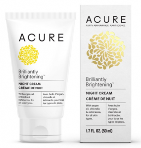 Acure Organics Night Cream next to packaging.