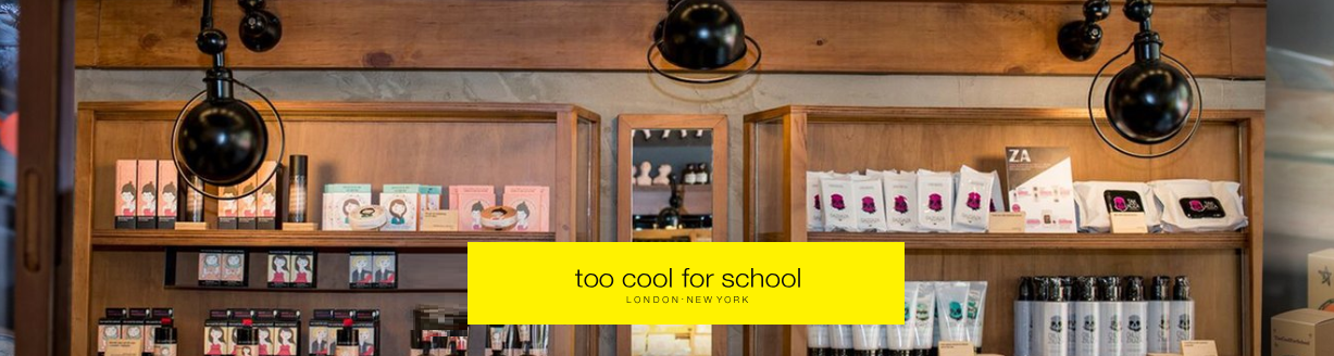 Too Cool For School logo.