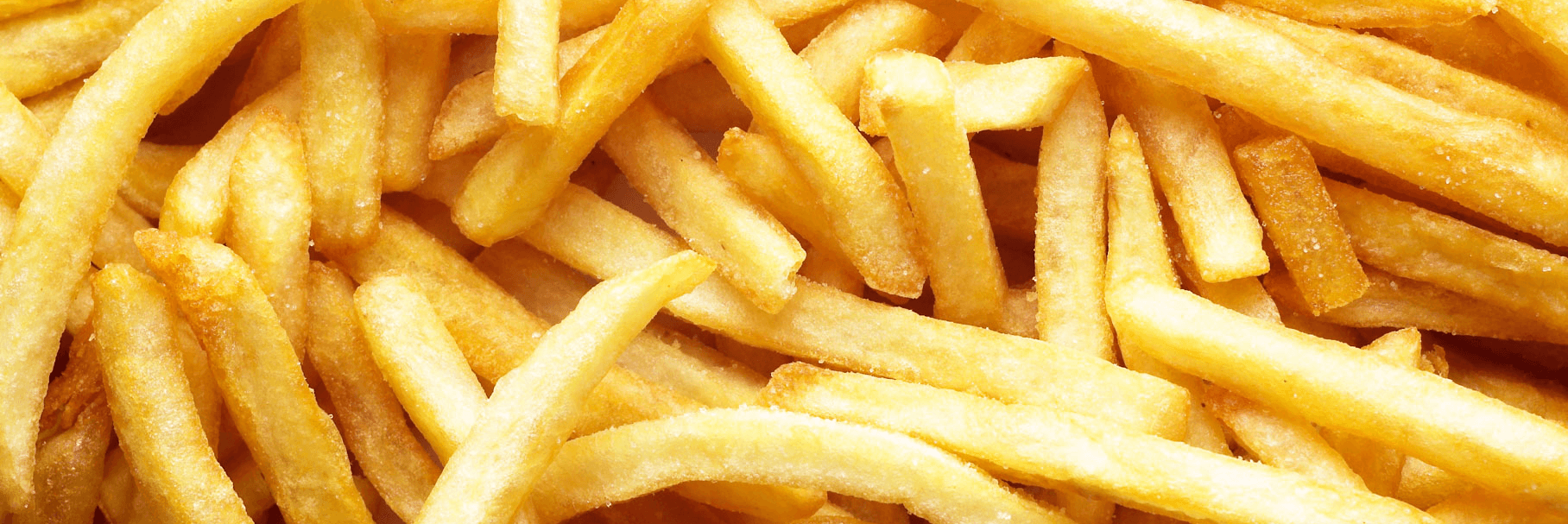 Close up of french fries.