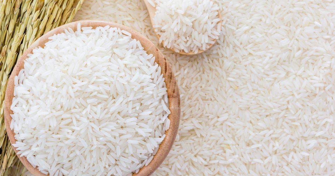 Large amount of rice.