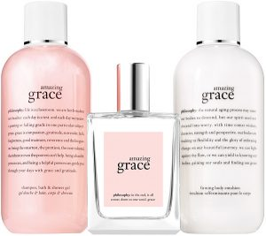 Philosophy Amazing Grace product line.