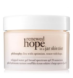 Philosophy Renewed Hope sunscreen.