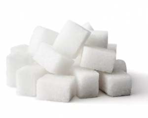 Pile of sugar cubes.