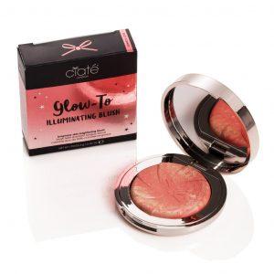 Ciate London Glow-To illuminating blush open compact.