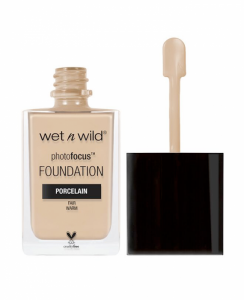 Wet n Wild Photo Focus foundation open product bottle.