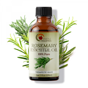 Bottle of rosemary oil.