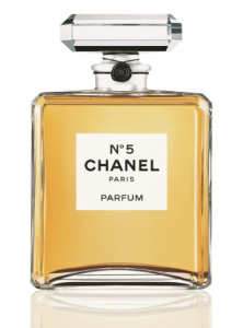 Chanel No. 5 Paris Parfum bottle.