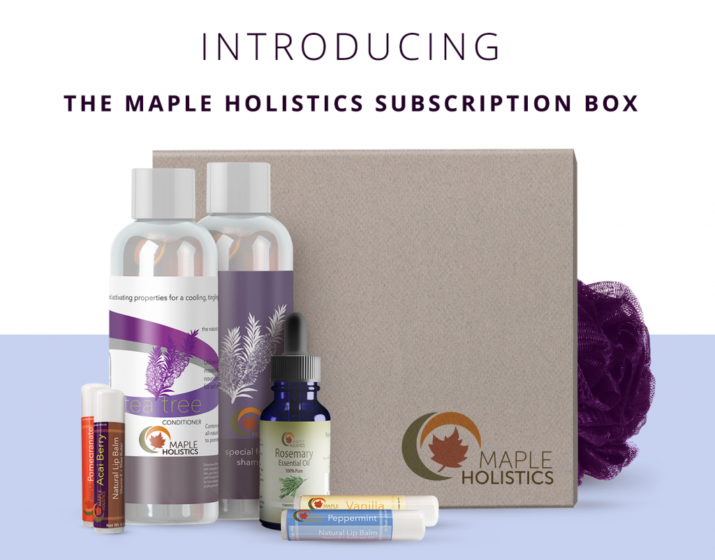 The Maple Holistics subscription box.