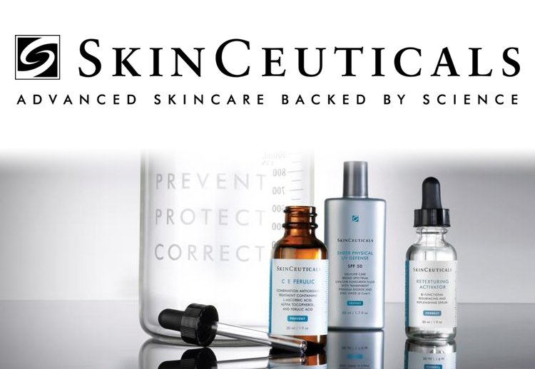 Skinceuticals product bottles.