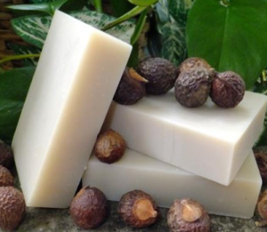 Soap nut shampoo bar.