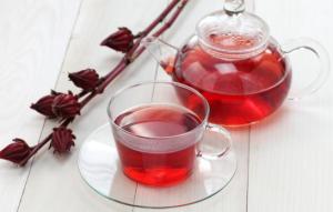 Hibiscus tea.