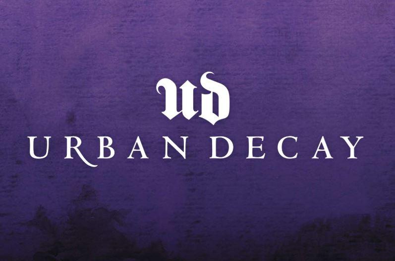 Urban decay logo on purple.