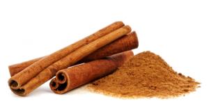 Pile of cinnamon powder.