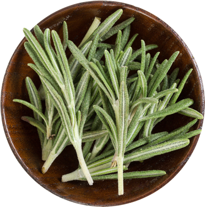 Rosemary in a bowl.
