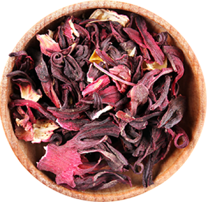 Hibiscus in a bowl.