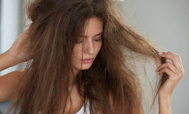 Dry and damaged hair.