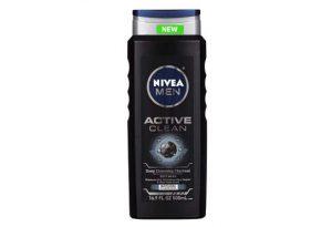 Bottle of nivea charcoal body wash.