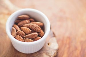 Bowl of almonds.