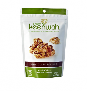 Bag of I Heart Keenwah quinoa clusters.