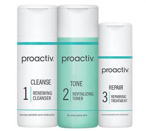 Proactiv's 3-step system.