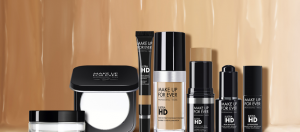Array of Make Up For Ever HD makeup products.