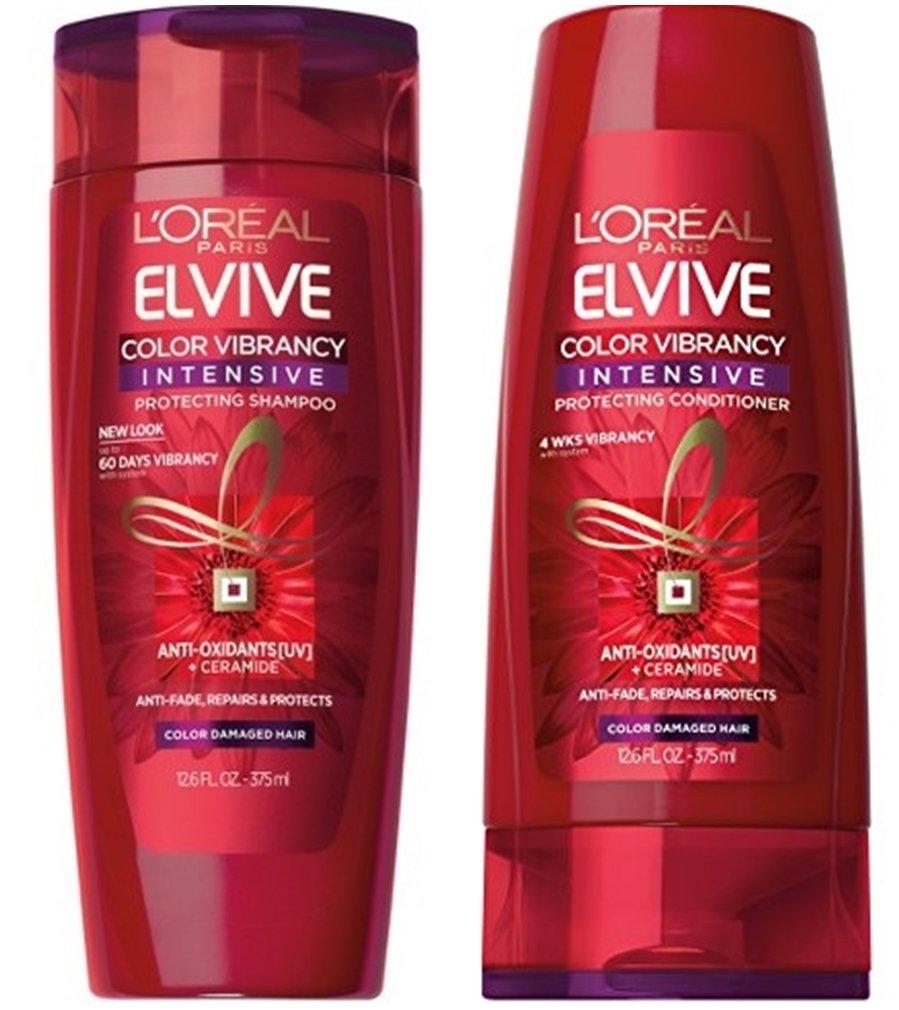 Bottle of L'Oréal Paris Elvive Color Vibrancy System.