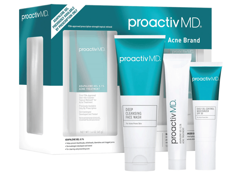 Three tubes of Proactiv MD 3 Piece Kit.