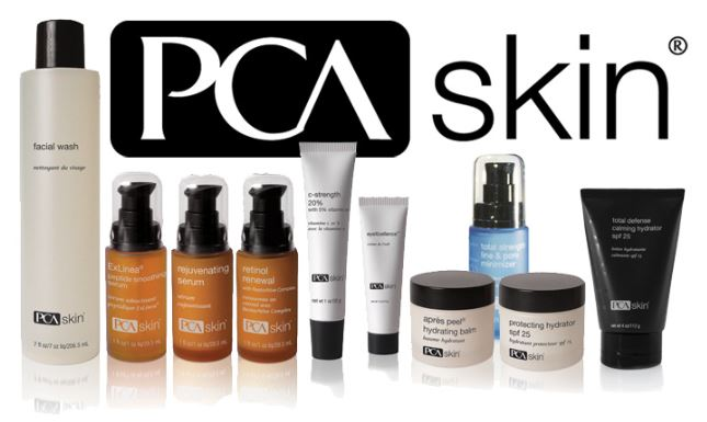 PCA skin products and logo.