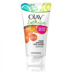 Tube of Olay Acne Control Face Wash.