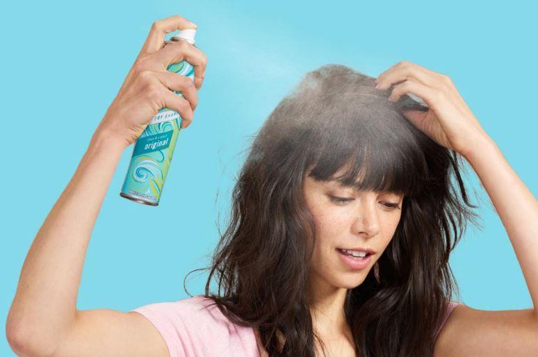 Using bastise dry shampoo.