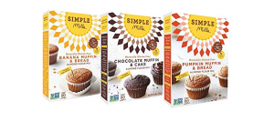 Simple Mills' banana, chocolate and pumpkin muffin mixes.