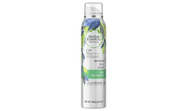 Can of Herbal Essences' blue ginger refresh dry shampoo.