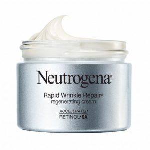 Tub of Neutrogena Rapid Wrinkle Repair Regenerating Cream.