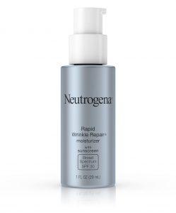 Tube of Neutrogena Rapid Wrinkle Repair Moisturizer Broad Spectrum SPF 30.