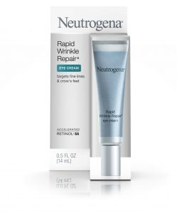 Tube of Neutrogena Rapid Wrinkle Repair Eye Cream.