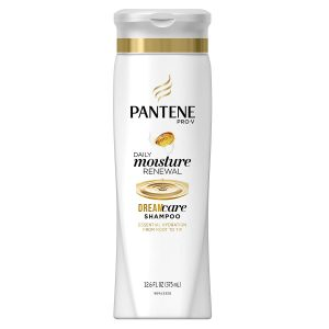 Bottle of Pantene Pro V Shampoo.