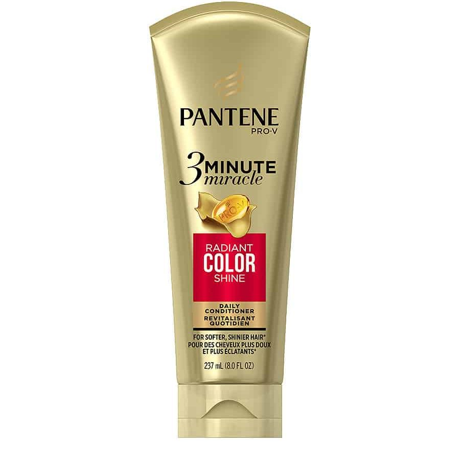 Tube of Pantene 3 Minute Miracle Radiant Color Shine.