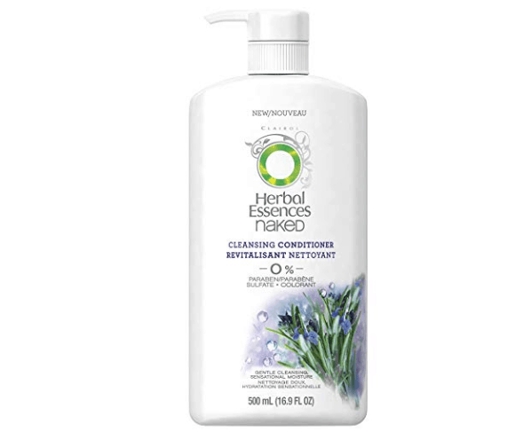 Bottle of Herbal Essences' naked cleansing conditioner.