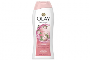 Bottle of Olay's fresh outlast body wash.
