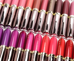 Urban Decay Liquid Lipsticks laid out for display.