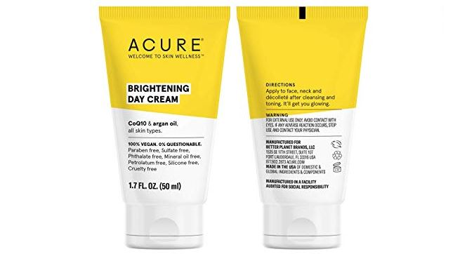 Tube of Acure Organics Day Cream.