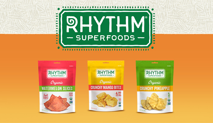 Rhythm snacks advertisement.