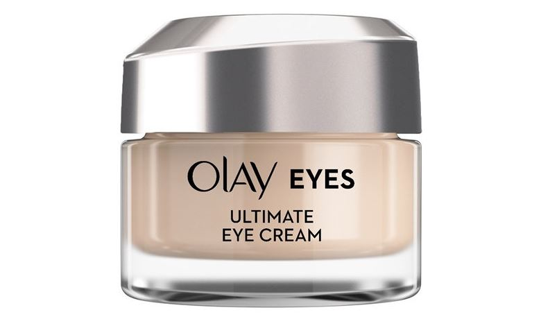 Container of Olay Eyes Ultimate Eye Cream.