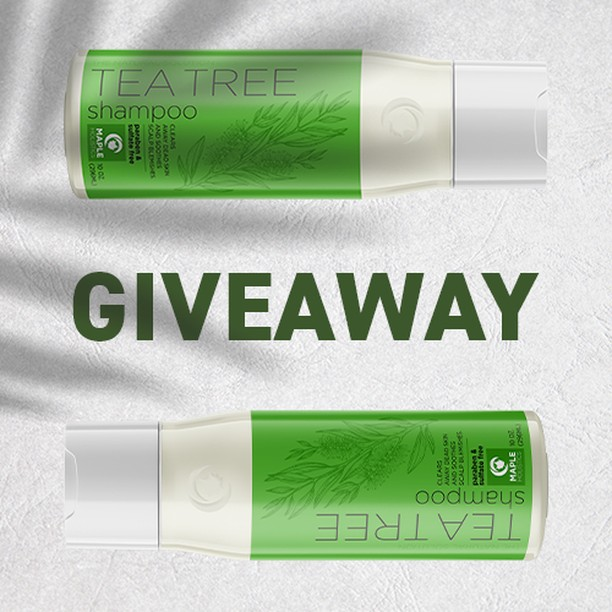 SPECIAL #GIVEAWAY!⠀⠀⠀⠀⠀⠀⠀⠀⠀ Win a Tea Tree shampoo and conditioner set for you and your tagged friends! ➡️ Share this post⠀⠀⠀⠀⠀⠀⠀⠀⠀ ➡️ Like our page⠀⠀⠀⠀⠀⠀⠀⠀⠀ ➡️ Tag your squad (Each separate tag is an additional entry, so tag away!) Want a bonus entry? Comment with: My celebrity crush is__